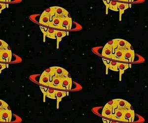 pizza, planet, and wallpaper image