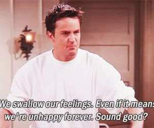 friends, unhappy, and chandler image