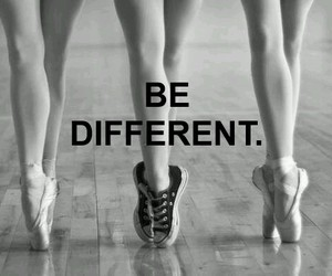 different, ballet, and be different image