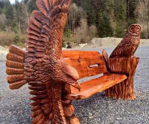 bench and wood image