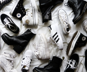 shoes, adidas, and converse image