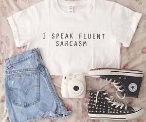 clothes, jeans, and sarcasm image