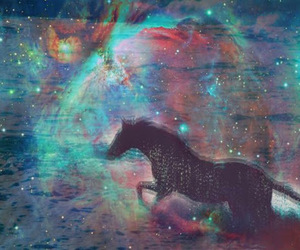 galaxy, hipster, and horse image
