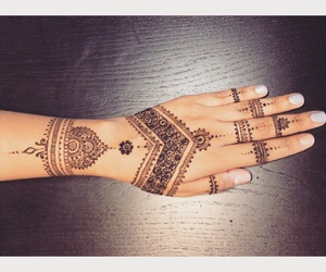 art, henna, and indian image