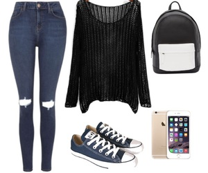 converse, ideas, and jeans image