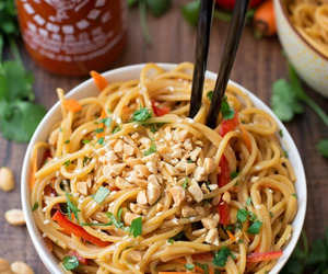 food, noodles, and spicy image