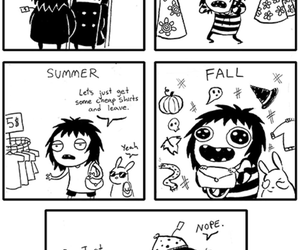 funny, comic, and fall image