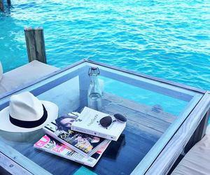 summer, beach, and magazine image
