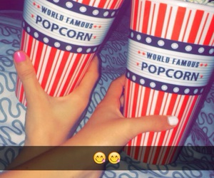 best friend, food, and popcorn image