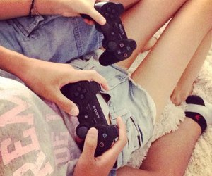 couple, gamers, and love image
