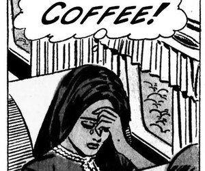 coffee, comic, and pop art image