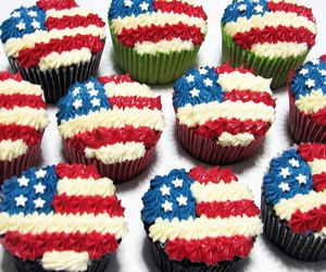 cupcakes, stars and stripes, and i was born a champion image