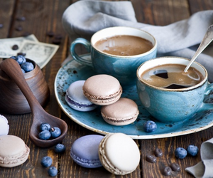 coffee, blueberry, and breakfast image