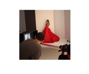 red dress and ariana grande image