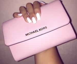 pink, nails, and Michael Kors image