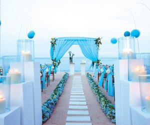 wedding, beach, and beach wedding image