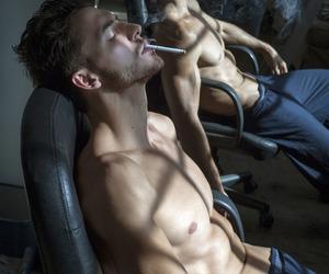 abs, cigarette, and smoke image