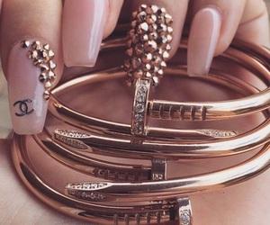 nails, chanel, and bracelet image