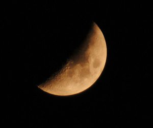 moon, night, and cute image