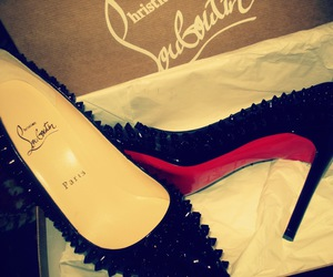 black, louboutin, and friend image