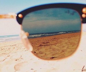 summer, glasses, and sand image