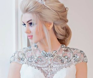blonde, bride, and cheveux image