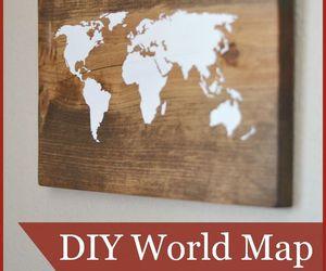 diy, world, and map image