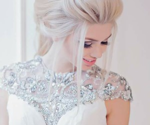 fashion, wedding, and hair image
