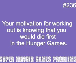 working out and hunger games problems image