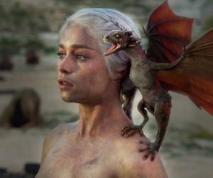 got, mother of dragons, and game of thrones image