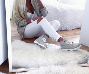 girl, white, and fashion image