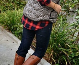 boots, classy, and flannel image
