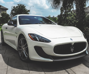 car, maserati, and white image