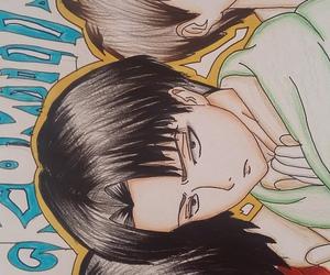 drawing, mikasa, and eren image