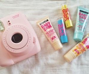 baby lips, camera, and pink image