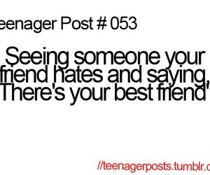 best friend, hater, and funny image