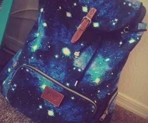 backpack, bag, and galaxy image