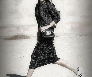 black, dress, and adidass image
