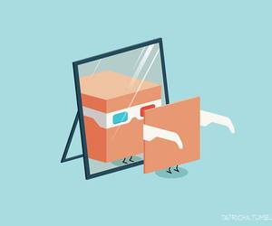 3d, box, and cartoon image