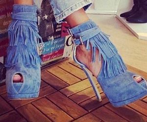 heels, blue, and loveheels image