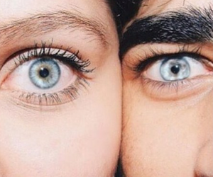 blue eyes, couple, and love image