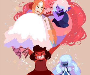 pearl, steven universe, and amethyst image