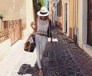 style and white jeans image