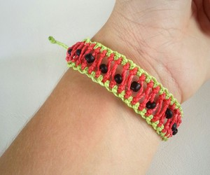 bracelet, red, and watermelon image