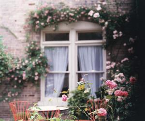 flowers, vintage, and window image