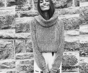 black and white, fashion, and smile image