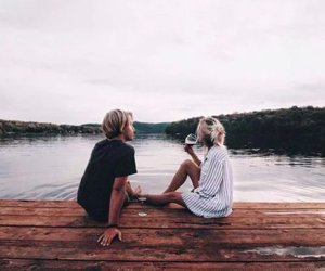 girl, summer, and boy image