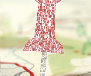paper towns, john green, and book image