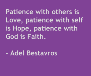 faith, patience, and quote image