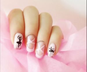 nails, ballet, and pink image